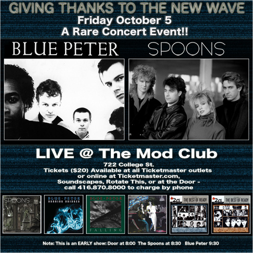 Blue Peter Mod Club Flyer